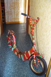 самокат переделанный из велосипеда